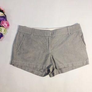 J. Crew gray mini shorts cotton size 10